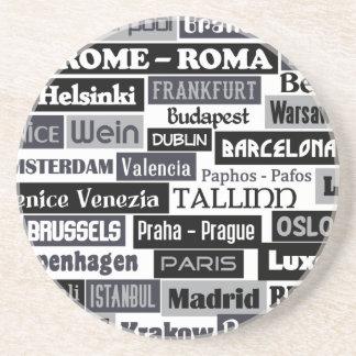 Práctico de costa europeo del personalizado del vi posavasos manualidades
