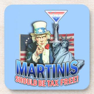Práctico de costa exento de impuestos del corcho d posavasos de bebida