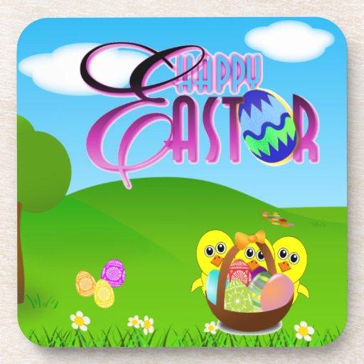 Práctico de costa feliz del corcho de Pascua Posavasos De Bebida