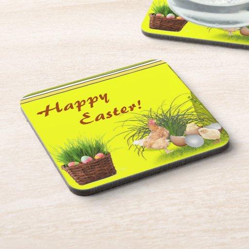Práctico de costa feliz del corcho de Pascua Posavasos De Bebidas