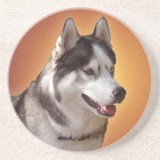Práctico de costa fornido del perro de trineo del posavasos personalizados