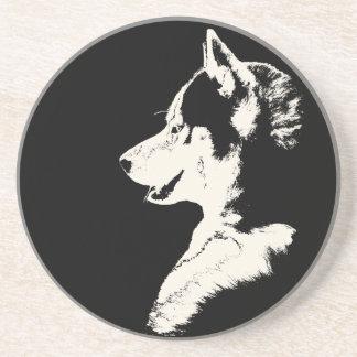 Práctico de costa fornido del perro del lobo del M Posavaso Para Bebida