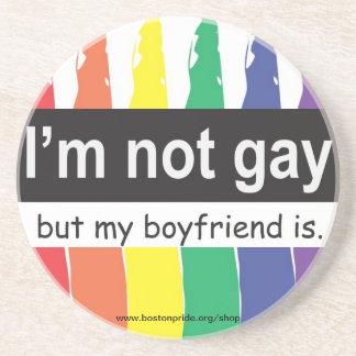 Práctico de costa gay del novio posavasos personalizados
