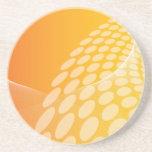 Práctico de costa geométrico anaranjado abstracto  posavasos manualidades