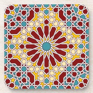Práctico de costa geométrico islámico del modelo posavasos