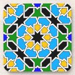 Práctico de costa geométrico islámico del modelo posavasos de bebida
