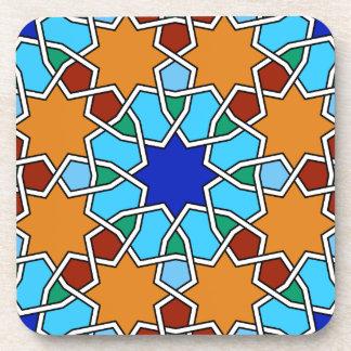 Práctico de costa geométrico islámico del modelo posavasos de bebidas