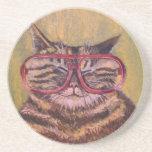 Práctico de costa gordo grande del gato de los vid posavasos personalizados