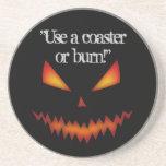 Práctico de costa Halloween de Jack O'Lantern Posavasos Diseño