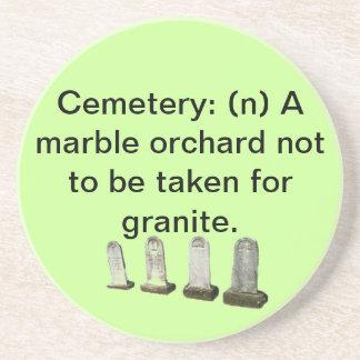 Práctico de costa - huerta de Cemetery=marble Posavaso Para Bebida