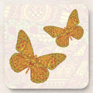 Práctico de costa indio del cuadrado del monarca posavaso