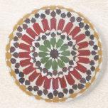 Práctico de costa indio del diseño geométrico posavasos manualidades