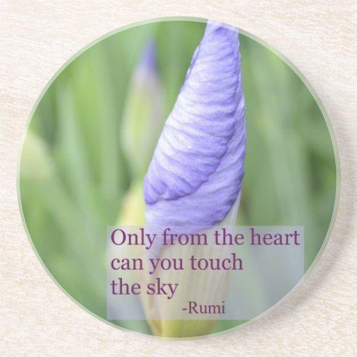 Práctico de costa inspirado de la cita de Rumi del Posavasos De Arenisca