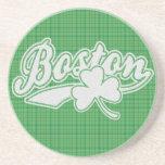 Práctico de costa irlandés del trébol de Boston Posavasos Diseño