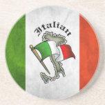 Práctico de costa italiano de la bebida de la pied posavasos personalizados