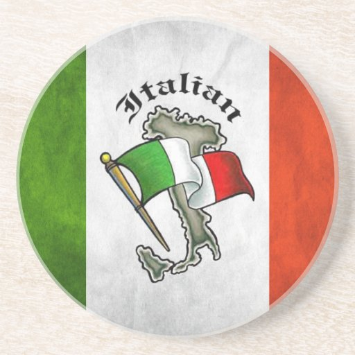Práctico de costa italiano de la bebida de la pied posavasos manualidades