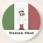 Práctico de costa italiano del cocinero #6 posavasos diseño