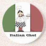 Práctico de costa italiano del cocinero #7 posavasos manualidades