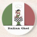 Práctico de costa italiano del cocinero #8 posavasos personalizados