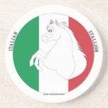 Práctico de costa italiano del estilo #2 del semen posavasos personalizados