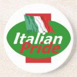 Práctico de costa italiano del orgullo posavasos personalizados