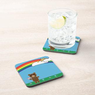Práctico de costa lindo del corcho del oso posavasos de bebida