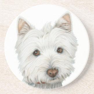 Práctico de costa lindo del perro de Westie Posavasos Manualidades