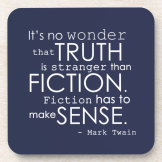 Práctico de costa literario de la cita de Twain fi Posavasos