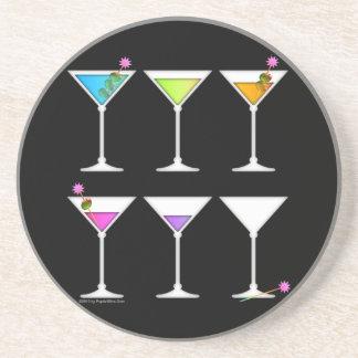 ¡Práctico de costa - MARTINIS, yendo, el ir IDO! Posavasos Para Bebidas