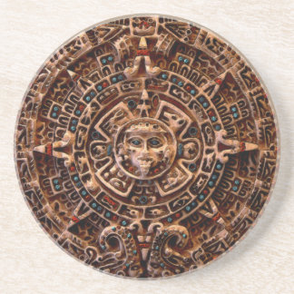 Práctico de costa maya, azteca de la piedra arenis posavasos cerveza