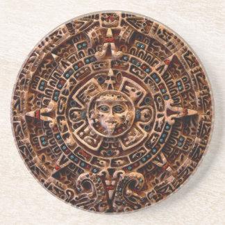 Práctico de costa maya, azteca de la piedra posavasos para bebidas