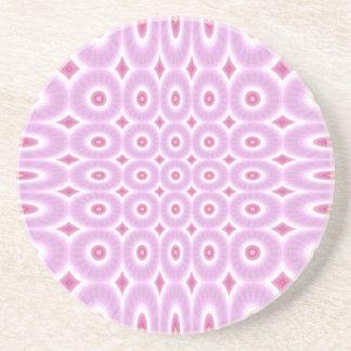 Práctico de costa modelado rosa de la bebida de la posavasos diseño