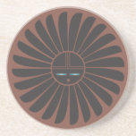 Práctico de costa negro del sol del interruptor posavasos personalizados