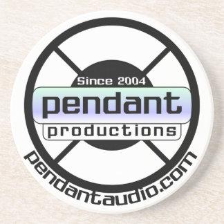 Práctico de costa pendiente del logotipo posavasos para bebidas