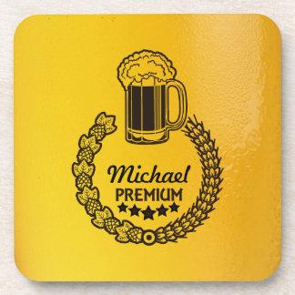 Práctico de costa personal de encargo del logotipo posavasos de bebida