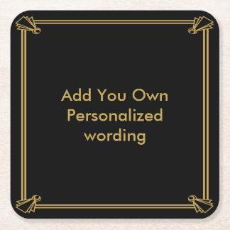 Práctico de costa personalizado estilo del art posavasos personalizable cuadrado
