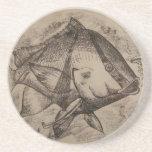 Práctico de costa (piedra arenisca) con pescados m posavasos manualidades