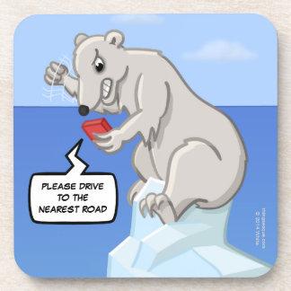 Práctico de costa polar de la fusión de los posavasos de bebida