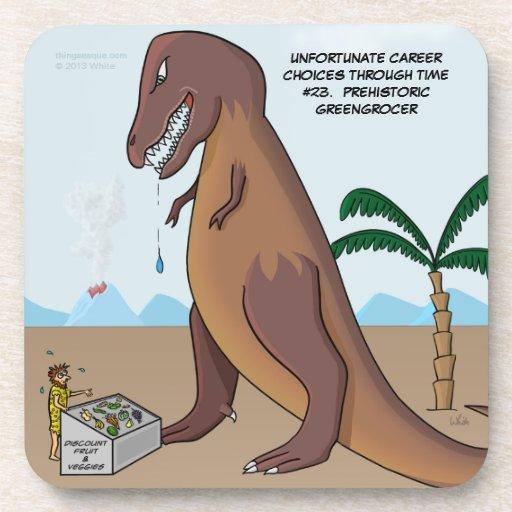 Práctico de costa prehistórico del verdulero posavasos de bebidas