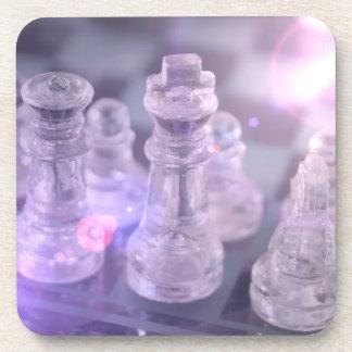 Práctico de costa principal del corcho del ajedrez posavasos