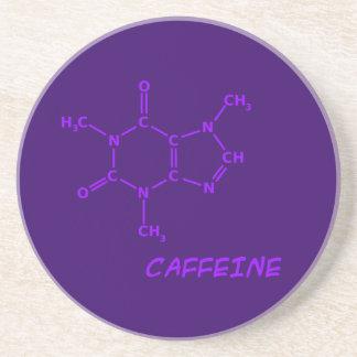 Práctico de costa púrpura de la molécula del cafeí posavasos para bebidas