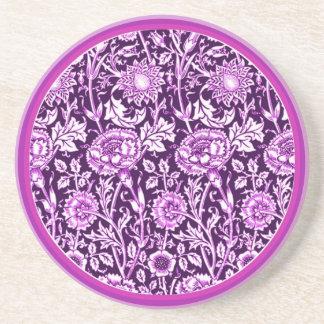 Práctico de costa púrpura de los claveles del vint posavasos para bebidas