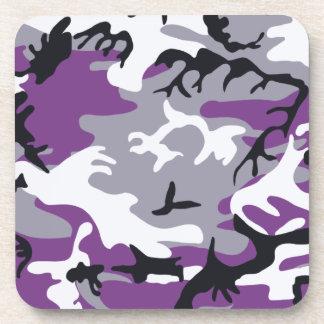 Práctico de costa púrpura del corcho del camuflaje posavasos de bebidas