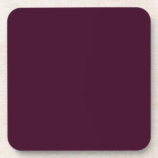 Práctico de costa púrpura del corcho del ciruelo d posavasos de bebida