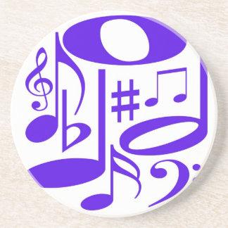 Práctico de costa púrpura musical posavaso para bebida