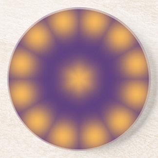 Práctico de costa púrpura y amarillo posavasos manualidades