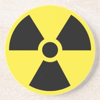 Práctico de costa radiactivo del símbolo posavasos manualidades