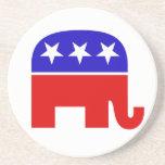 Práctico de costa republicano del elefante posavasos manualidades