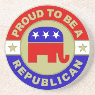 Práctico de costa republicano orgulloso posavasos manualidades