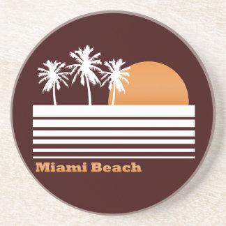 Práctico de costa retro de Miami Beach Posavasos Para Bebidas